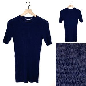 Everlane The Ribbed Wool Top Short Sleeve